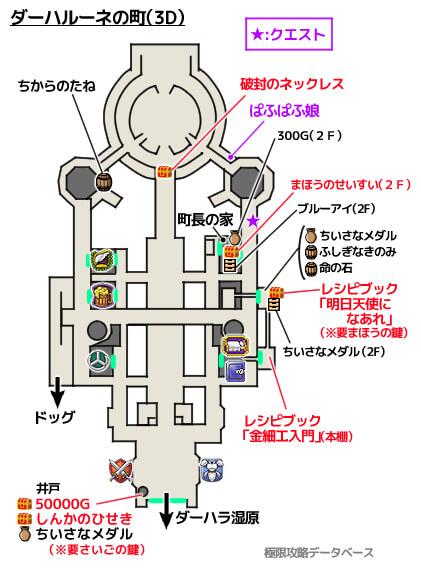 ダーハルーネの町3DS攻略マップ3Dモード