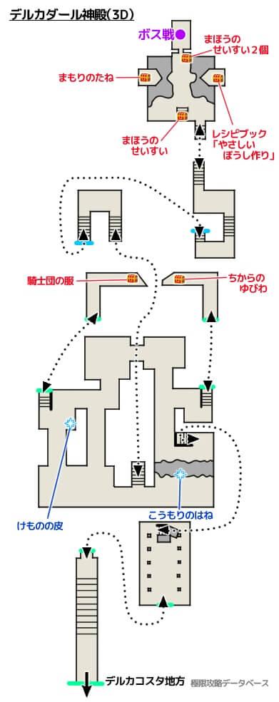 デルカダール神殿3DS攻略マップ3Dモード