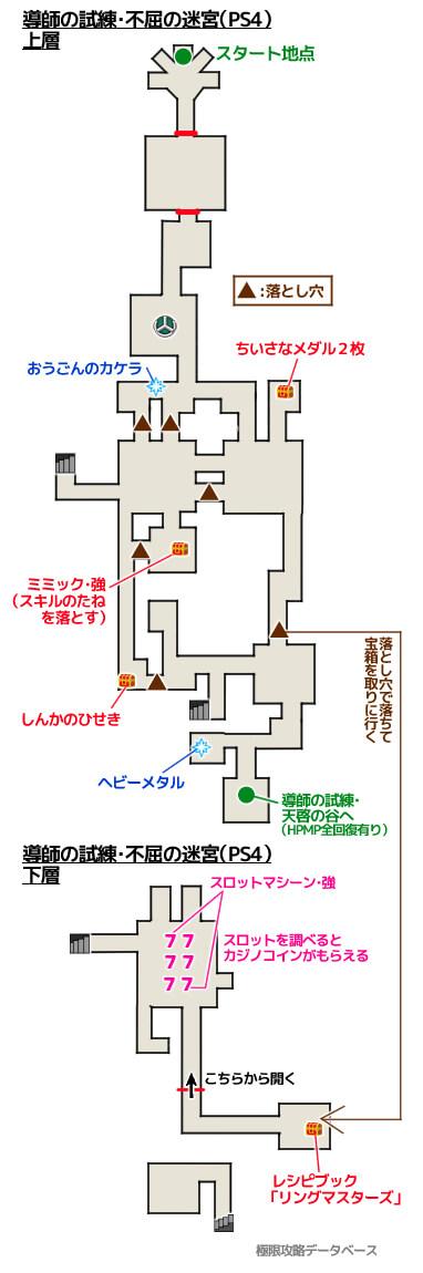 導師の試練・典型の祭壇PS4攻略マップ