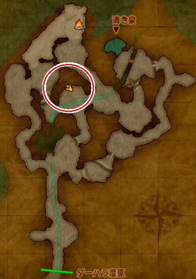 クエスト「ひと粒の極楽」虹色岩塩の場所PS4攻略マップ