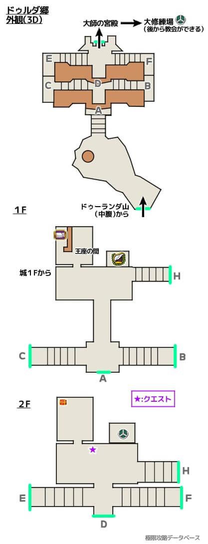 ドゥルダ郷3DS攻略マップ3Dモード