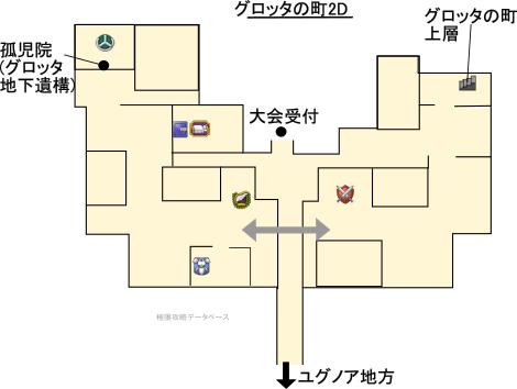 グロッタの町3DS攻略マップ2Dモード