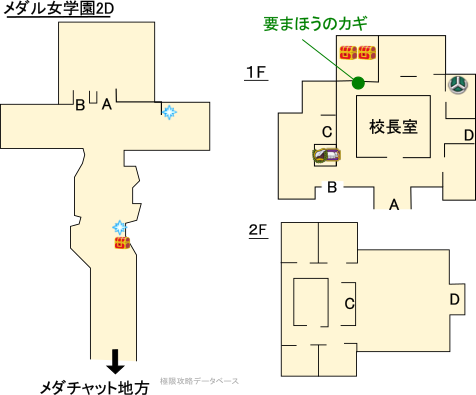メダル女学園3DS攻略マップ2Dモード