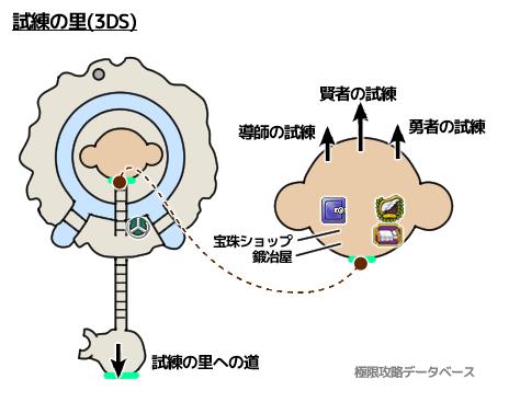 試練の里3DS攻略マップ3Dモード