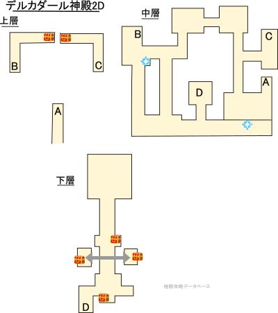 デルカダール神殿3DS攻略マップ2Dモード
