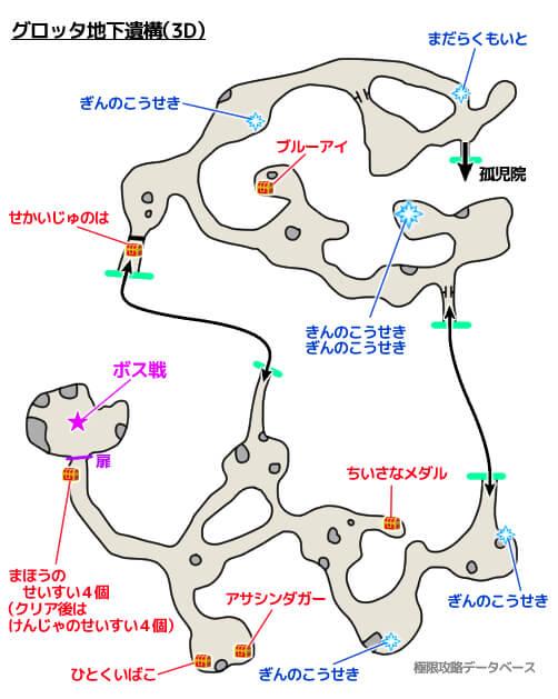 グロッタ地下遺構3Dモード攻略マップ