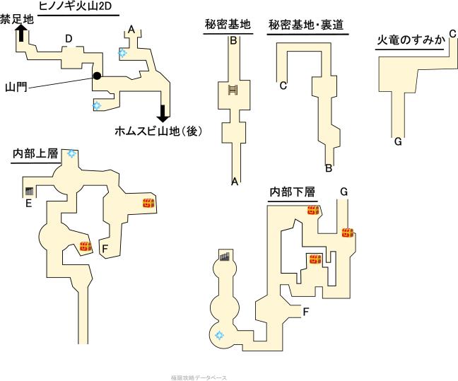 ヒノノギ火山3DS攻略マップ2Dモード