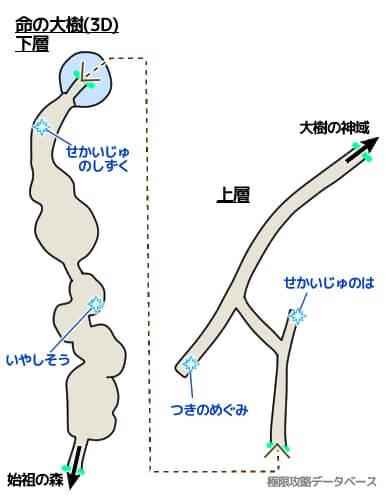 命の大樹3DS攻略マップ3Dモード