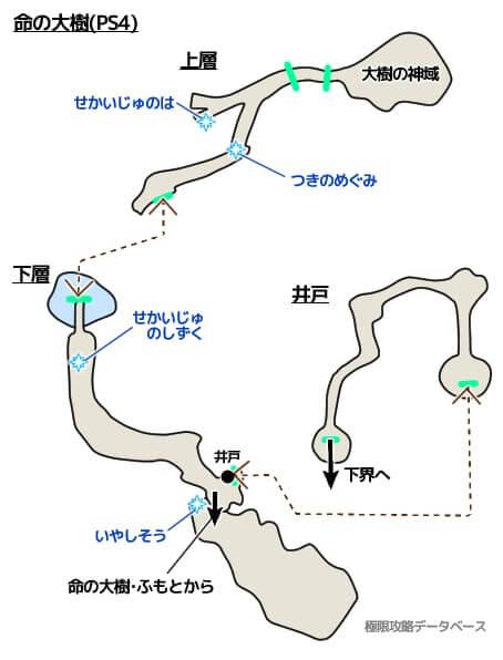 命の大樹PS4攻略マップ