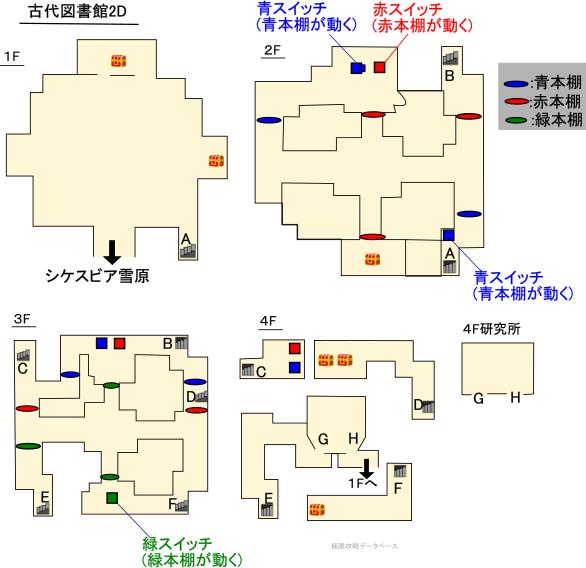 古代図書館3DS攻略マップ2Dモード
