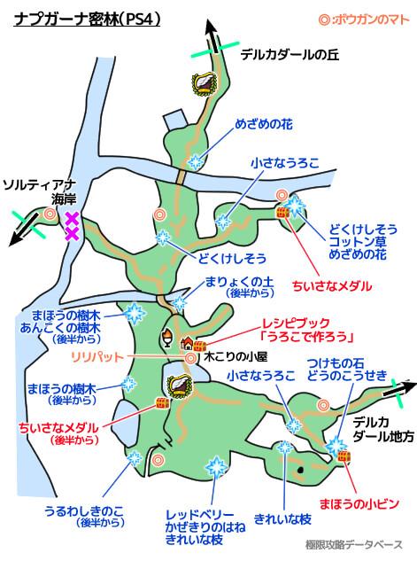 ナプガーナ密林PS4攻略マップ