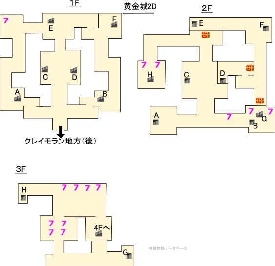 黄金城3DS攻略マップ2Dモード