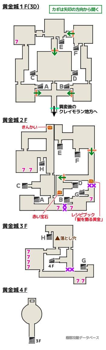 黄金城3DS攻略マップ3Dモード