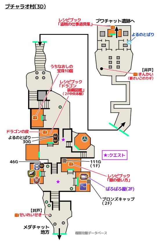 プチャラオ村3DS攻略マップ3Dモード