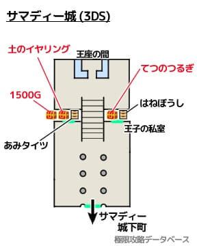 サマディー城3DS攻略マップ3Dモード