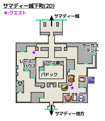 サマディー城下町3DS攻略マップ2Dモード