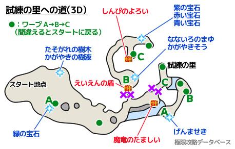 試練の里への道3DS攻略マップ3Dモード