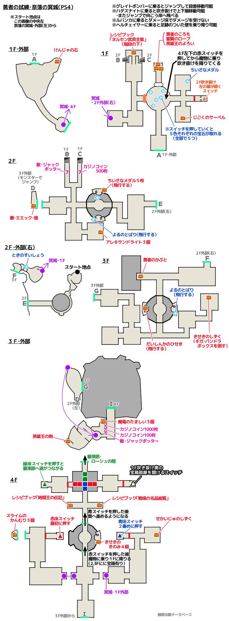勇者の試練PS4攻略マップ